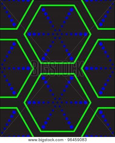 Futuristic Hexagonal Texture