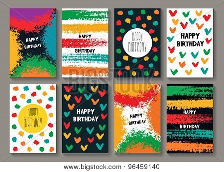 Painted Birthday Card Templates