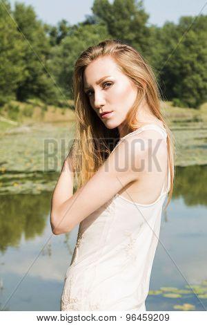 Girl on the lake