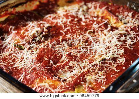 Aubergine And Pasta Parmesan