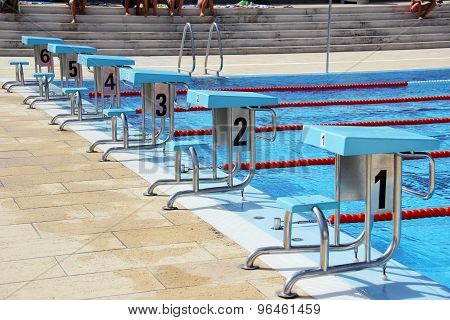Swimming pool diving boards.
