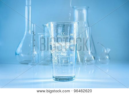 Chemical Glassware. Chem Laboratory.