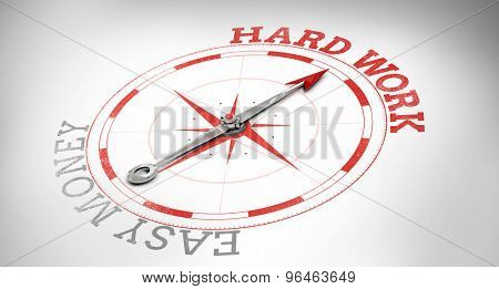Compass against hard work or easy money