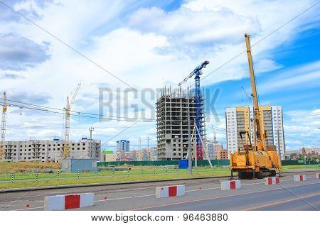 Foundation piles machine