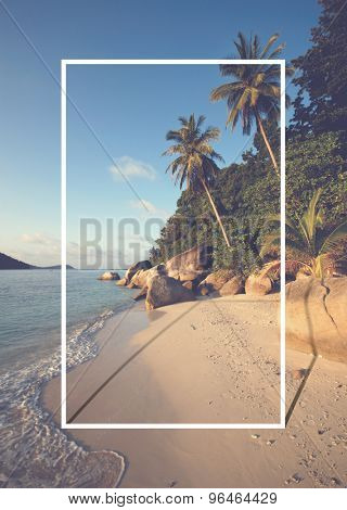 Malaysian beach Peaceful Tranquil Scene Concept