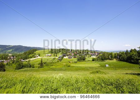 Green Areas And Houses In The City Of Zakopane