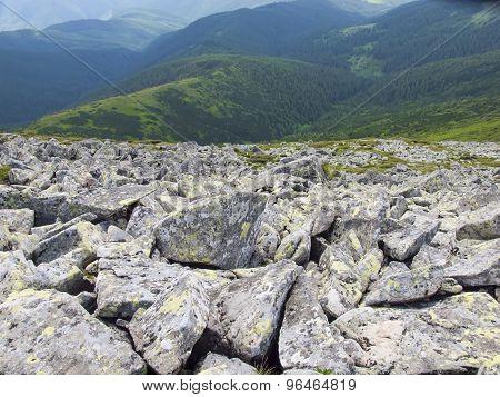 A Mountain Range In The Carpathian Mountains.