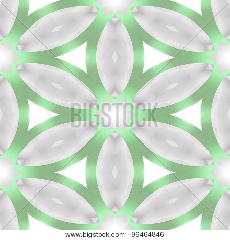Seamless Abstract Soft Green Grey Floral Pattern Made Of Simple Ellipses