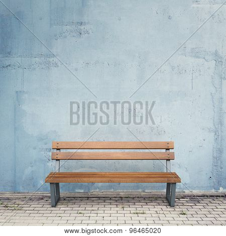 Bench against wall