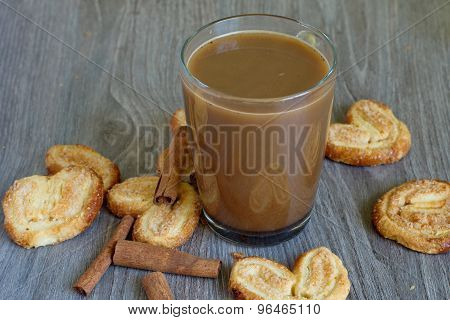 Coffee With Milk And Biscuits