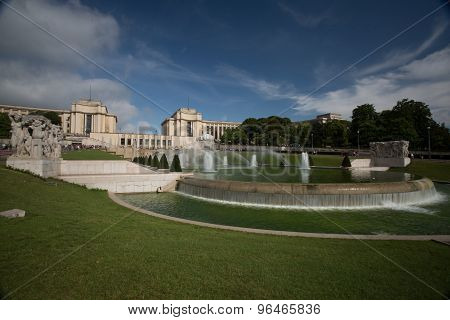 Trocadero Fountain - Stock Image
