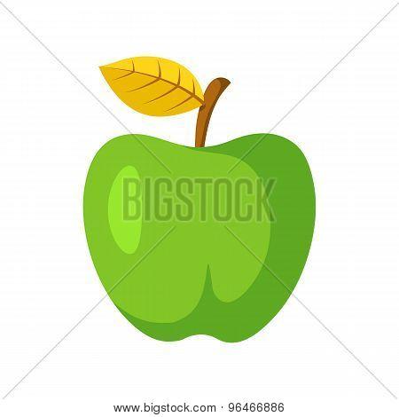 Green apple fruit.