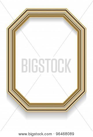 Photorealistic Vector Illustration Of An Octagonal Frame With Shadow For Photos Or Other Designs.
