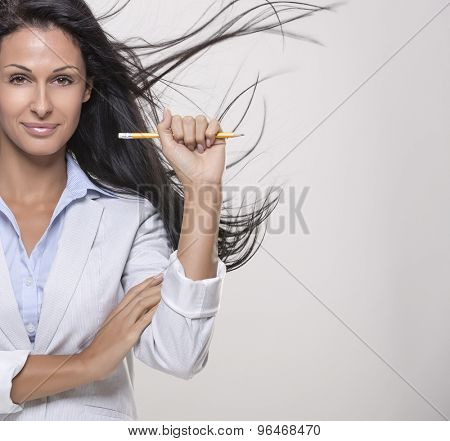 Beautiful, modern business woman