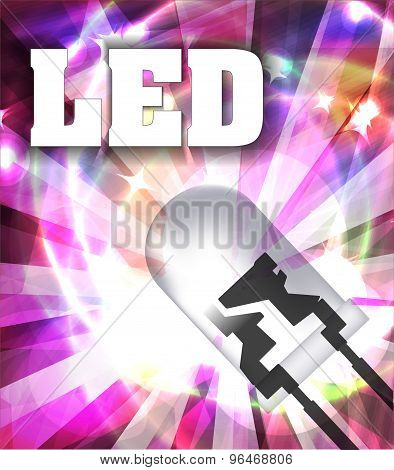 Designed With Led And Rays. Colorful Background. Vector Illustration.