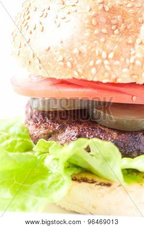 Sirloin Hamburger Stock Photo