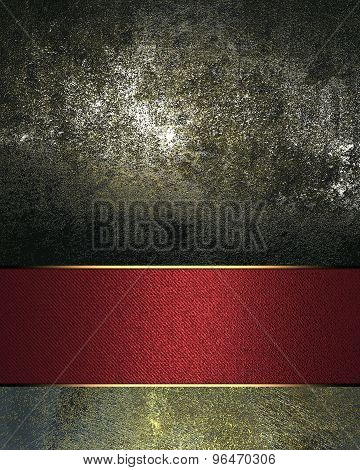 Grunge Black Background With A Gold Sign For Writing The Text. Element For Design. Template For Desi