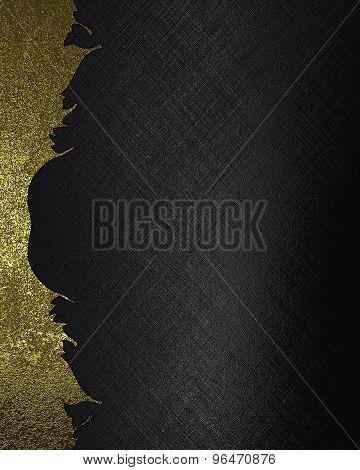 Grunge Metal Texture On Black Background. Element For Design. Template For Design.