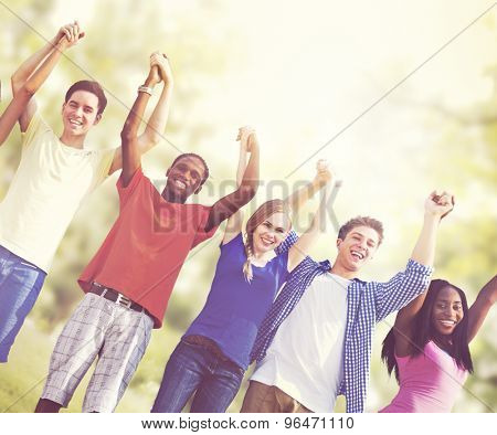 Students Friendship Team Relaxation Holiday Concept