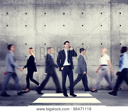 Business People Commuter Communication Rush Hour Concept