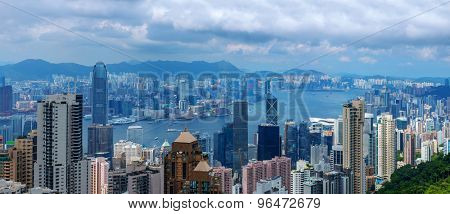 Panoramic skyline and cityscape of Hongkong
