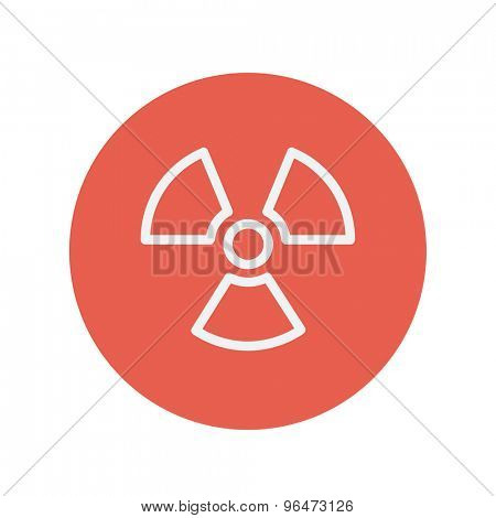 Propeller thin line icon for web and mobile minimalistic flat design. Vector white icon inside the red circle.