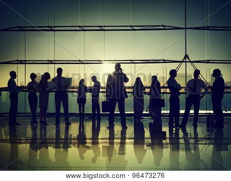 Business People Corporate Communication Calling Office Concept