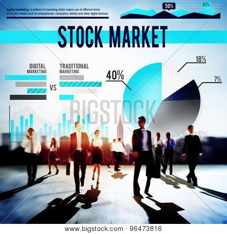 Stock Market Finance Business Stocks Concept