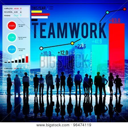 Teamwork Team Collaboration Support Help Business Concept