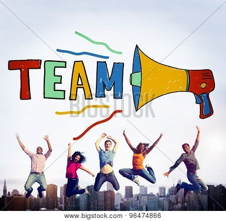 Team Teamwork Corporate Partnership Collaboration Concept