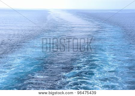 Trace on water from a passing ship. Philippine Sea.