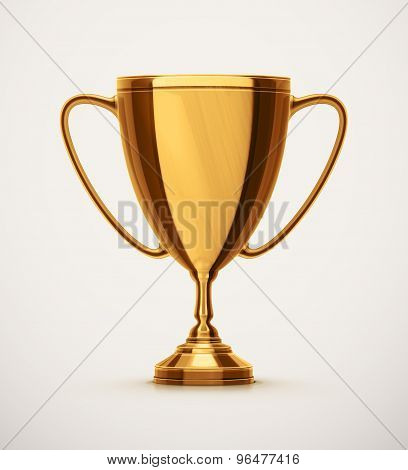 Isolated Gold Cup
