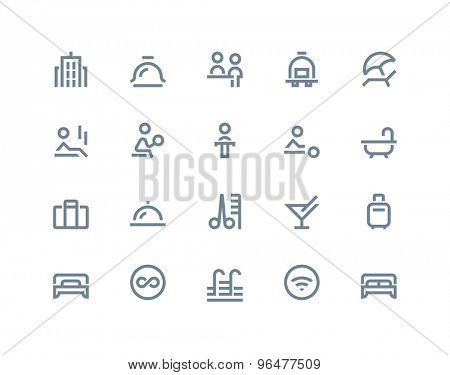 Hotel service icons. Line series