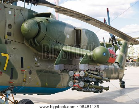 Armed military helicopter Mi-28N