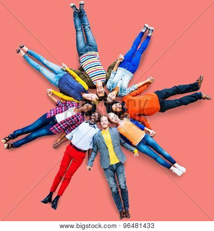People Group Diversity Togetherness Unity Concept