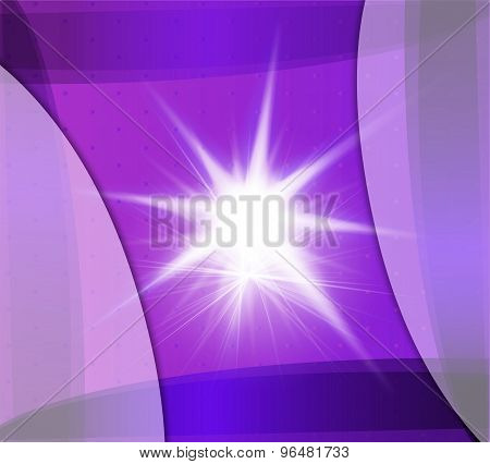 Abstract purple background with flare design illustration template