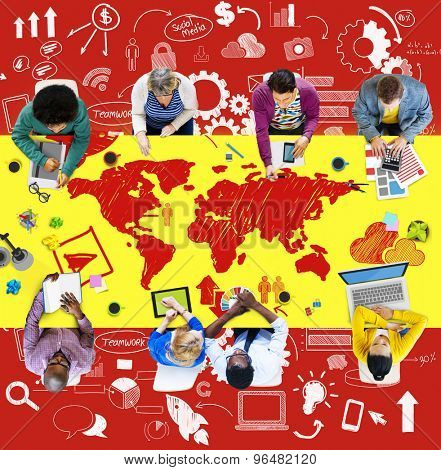 Business Teamwork Global Communication Connection Concept