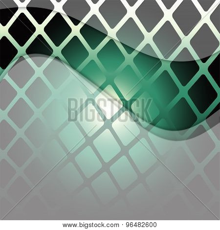 Grid wave background - Grid green background