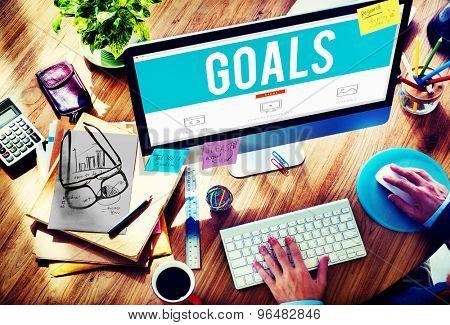 Goals Aim Aspiration Motivation Target Vision Concept