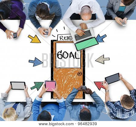 Goal Expectations Aim Opportunity Success Concept
