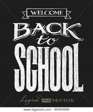 Back to school. Chalk lettering