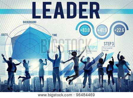Leader Leadership Boss Coach Authoritarian Concept