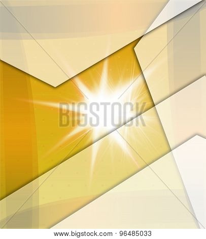 Yellow Background With Beams