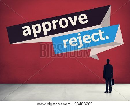 Approve Reject Canceled Decision Selection Concept