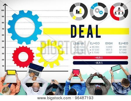 Deal Corporate Solution Strategy Corporate Concept