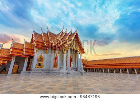 The Marble Temple - Wat Benchamabopit Dusitvanaram in Bangkok Thailand