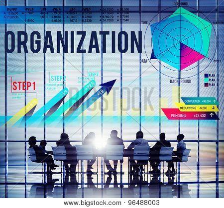 Organization Management Collaboration Team Structure Concept