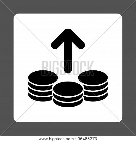 Payout Flat Icon From Commerce Buttons Overcolor Set