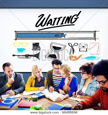Waiting Loading Uploading Downloading Progress Concept