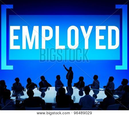 Employed Recruitment Human Resources Hiring Concept